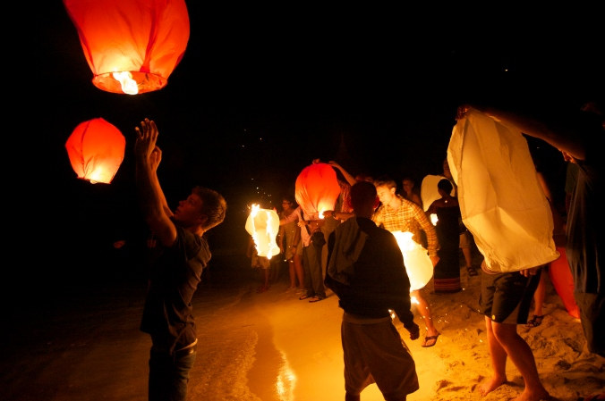 paper lanterns, philippines,
