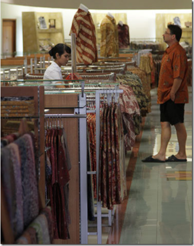 Pasaraya Department store batik