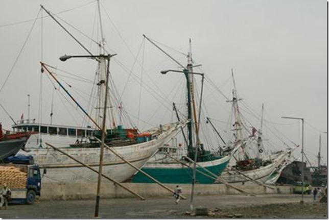 Schooners at Jakarta Dockyard