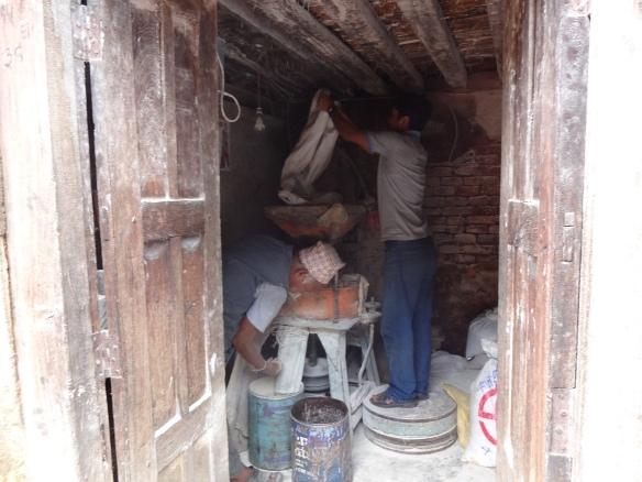 Grinding Flour in Bhaktapur