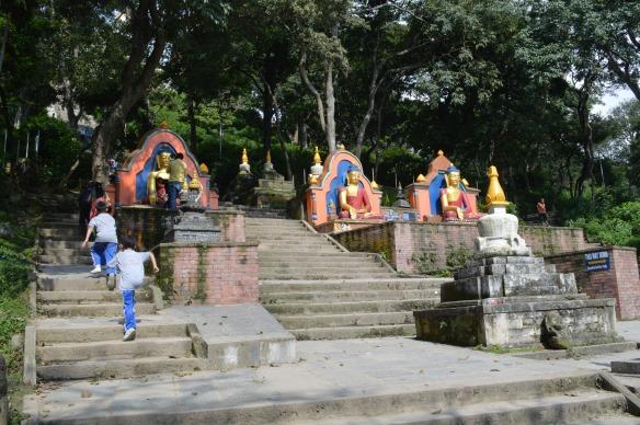 Buddhas at Swayambuneth