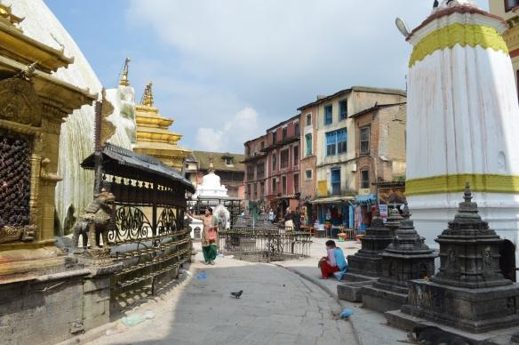 Courtyard at Swayambhuneth Temple