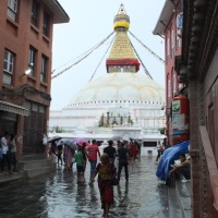 Boudha in the Rain