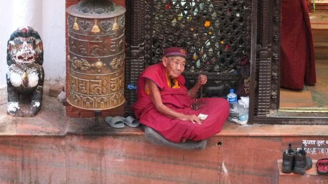 Old tibetan man