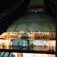Weekly Photo Challenge: Boudha Stupa at Night