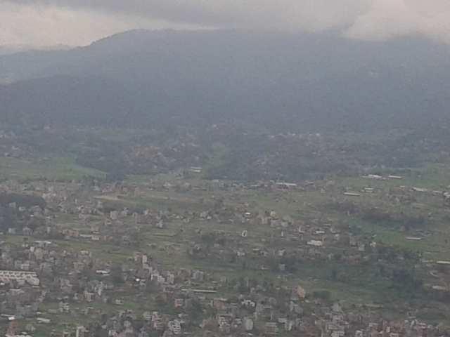 Aerial view of Kathmandu valley