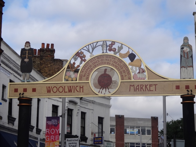 Entrance to Woolwich market