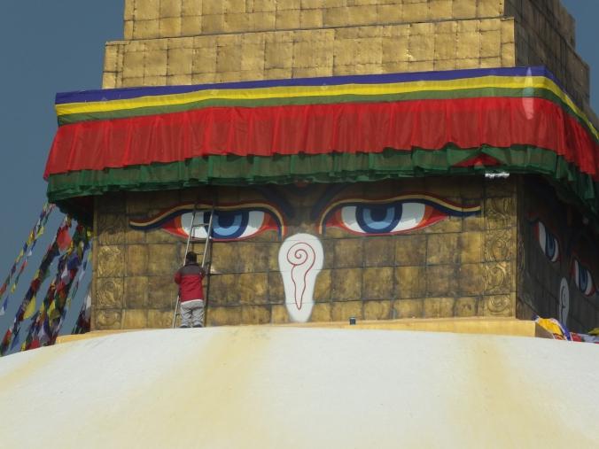 Buddha eyes, Buddhanath Stupa, Kathmandu