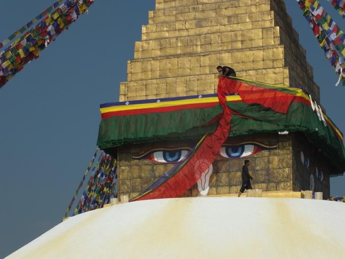 Buddha eyes, boudhaneth Stupa