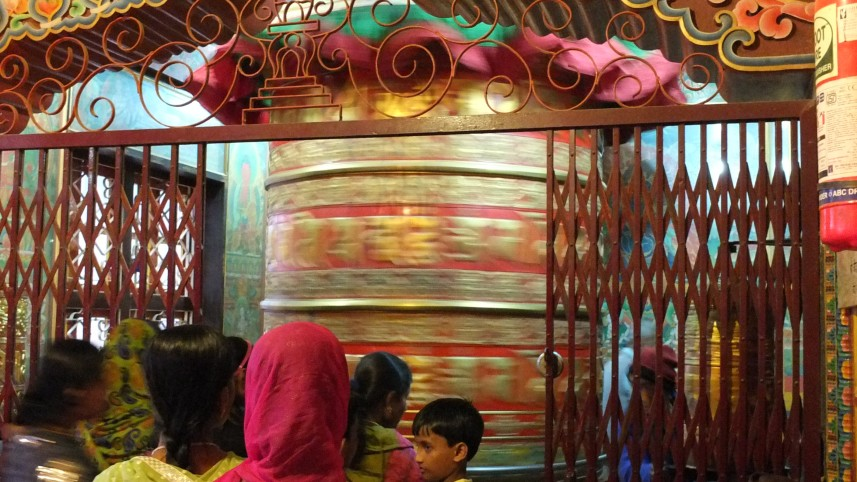 spinning prayer wheel