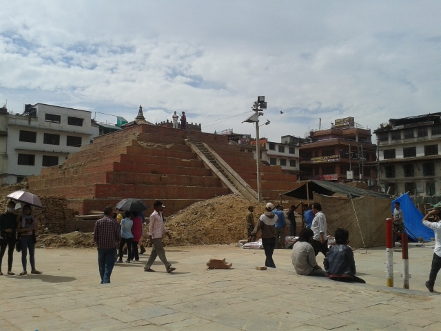 Kathmandu Dhurba Square after the earthquake
