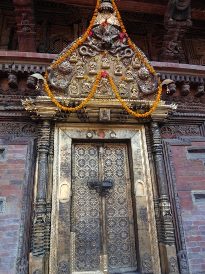 The unbelievably ornate door from Patan Royal Palace (and it survived the earthquake